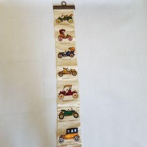 Vintage long car banner